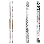 Salomon Snowscape 8 Siam Cross Country Skis, Black-Silver, medium