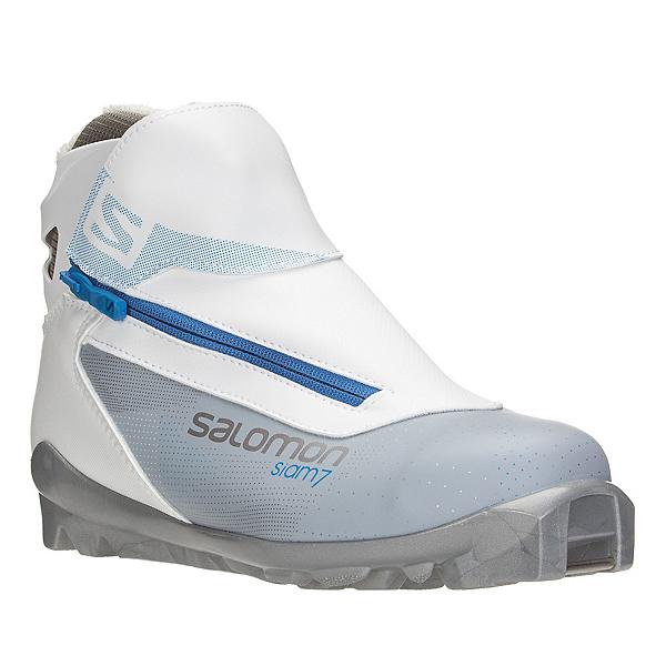 Salomon Siam 7 Womens SNS Cross Country Ski Boots, Grey-Blue, 600