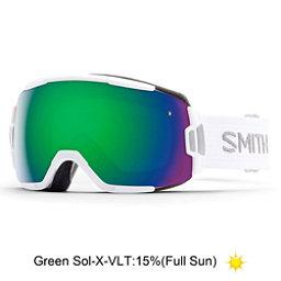 Smith Vice Goggles, White-Green Sol X Mirror, 256