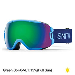 Smith Vice Goggles 2017, Light Blue-Green Sol X Mirror, 256