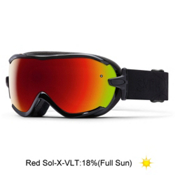 Smith Virtue Womens Goggles 2016, Black Lux-Red Sol X Mirror, medium