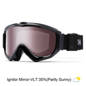 Smith Knowledge Turbo Fan OTG Goggles 2017, Black-Ignitor Mirror, medium