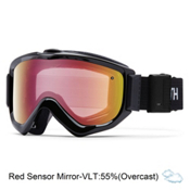 Smith Knowledge Turbo Fan OTG Goggles 2017, Black-Red Sensor Mirror, medium