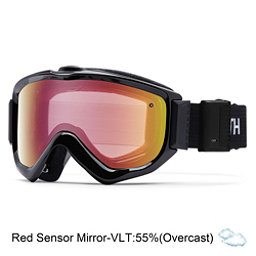 Smith Knowledge Turbo Fan OTG Goggles 2017, Black-Red Sensor Mirror, 256