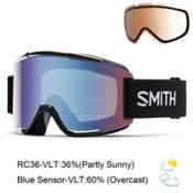 Smith Squad Goggles 2016, Black-Blue Sensor Mirror + Bonus Lens, medium