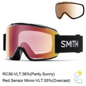 Smith Squad Goggles 2016, Black-Red Sensor Mirror + Bonus Lens, medium