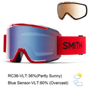 Smith Squad Goggles 2016, Fire-Blue Sensor Mirror + Bonus Lens, medium