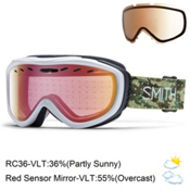 Smith Cadence Womens Goggles 2016, Dot Camo-Red Sensor Mirror + Bonus Lens, medium