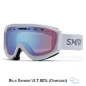 Smith Prophecy OTG Goggles, White-Blue Sensor Mirror, medium