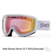 Smith Prophecy OTG Goggles, White-Red Sensor Mirror, medium