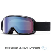 Smith Showcase Womens OTG Goggles 2016, Black Lux-Blue Sensor Mirror, medium