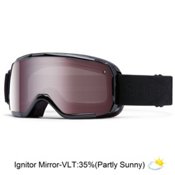 Smith Showcase Womens OTG Goggles 2016, Black Lux-Ignitor Mirror, medium