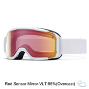 Smith Showcase Womens OTG Goggles 2016, White Gbf-Red Sensor Mirror, medium