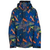 Quiksilver Mission Print Boys Snowboard Jacket, Ghetto Hero, medium