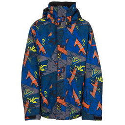 Quiksilver Mission Print Boys Snowboard Jacket, Ghetto Hero, 256