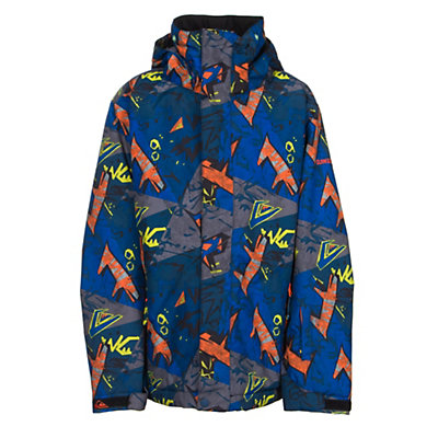 Quiksilver Mission Print Boys Snowboard Jacket, Ghetto Hero, viewer