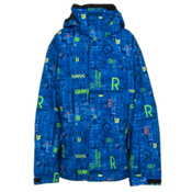 Quiksilver Mission Print Boys Snowboard Jacket, 4 Way Stripe Olympian Blue, medium