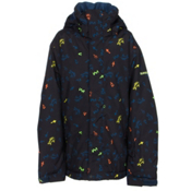 Quiksilver Mission Print Boys Snowboard Jacket, Ghetto Island, medium