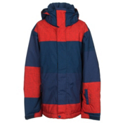 Quiksilver Mission Print Boys Snowboard Jacket, Big Stripe Poinciana, medium