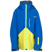 Quiksilver Mission Color Block Boys Snowboard Jacket, Olympian Blue, medium
