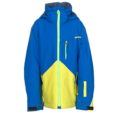 Quiksilver Mission Color Block Boys Snowboard Jacket, Olympian Blue, viewer