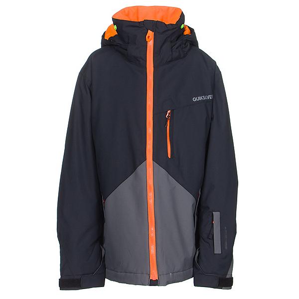 Quiksilver Mission Color Block Boys Snowboard Jacket, Iron Gate, 600