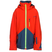 Quiksilver Mission Color Block Boys Snowboard Jacket, Poinciana, medium