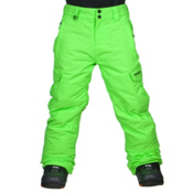 Quiksilver Mission Kids Snowboard Pants, Lime Punch, medium