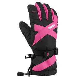 Gordini Junior Gore-Tex III Kids Gloves, Black-Deep Pink, 256