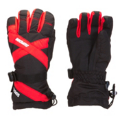 Gordini Junior Gore-Tex III Kids Gloves, Black-Fire Engine Red, medium
