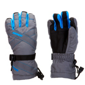 Gordini Junior Gore-Tex III Kids Gloves, Gunmetal-Bright Blue, medium