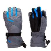 Gordini Junior Gore-Tex III Kids Gloves, Gunmetal-Bright Blue, medium