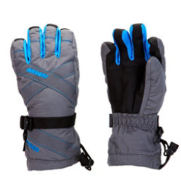 Gordini Junior Gore-Tex III Kids Gloves, Gunmetal-Bright Blue, 256