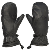 Gordini The Leather Goose III Womens Mittens, Black, medium