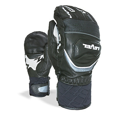 Level Race Ski Racing Mittens, Black, viewer