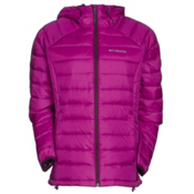 Columbia Platinum Plus 860 TurboDown Hooded Womens Jacket, Bright Plum-Purple Dahlia, medium