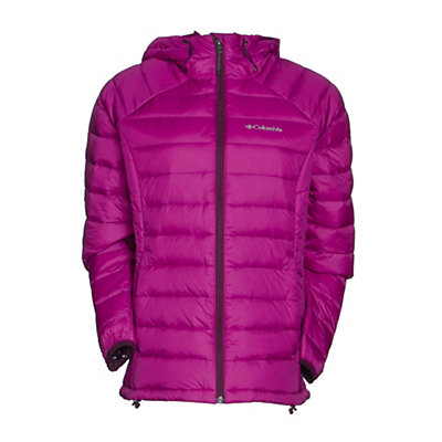 Columbia Platinum Plus 860 TurboDown Hooded Womens Jacket, Bright Plum-Purple Dahlia, viewer