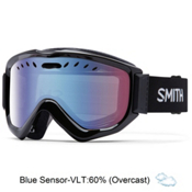 Smith Knowledge OTG Goggles 2017, Black-Blue Sensor Mirror, medium