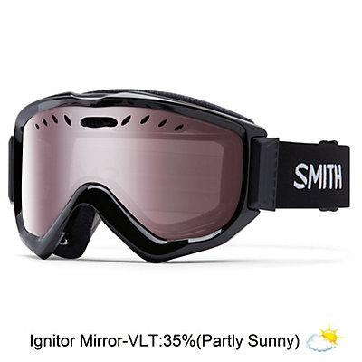 Smith Knowledge OTG Goggles 2017, Black-Blue Sensor Mirror, viewer