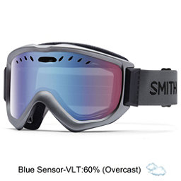 Smith Knowledge OTG Goggles 2017, Graphite-Blue Sensor Mirror, 256