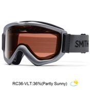 Smith Knowledge OTG Goggles 2017, Graphite-Red Sensor Mirror, medium