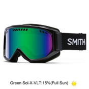 Smith Scope Goggles 2017, Black-Green Sol X Mirror, medium