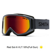 Smith Scope Goggles 2017, Charcoal-Red Sol X Mirror, medium