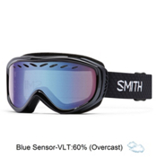 Smith Transit Womens Goggles 2017, Black-Blue Sensor Mirror, medium