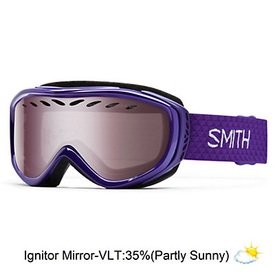 Smith Transit Womens Goggles, Black-Blue Sensor Mirror, viewer