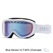 Smith Transit Womens Goggles 2017, White-Blue Sensor Mirror, medium