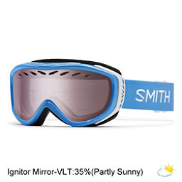 Smith Transit Womens Goggles 2017, French Blue Static-Ignitor Mir, 256
