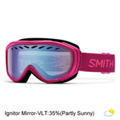 Smith Transit Womens Goggles 2017, Fuchsia Static-Blue Sensor Mir, medium