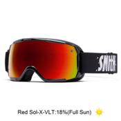 Smith Grom Kids Goggles 2016, Black-Red Sol X Mirror, medium