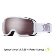 Smith Grom Kids Goggles, White-Ignitor Mirror, medium